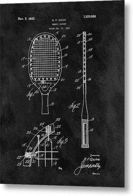 Old Tennis Racket Patent Metal Print