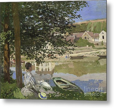 On The Bank Of The Seine, Bennecourt Metal Print by Claude Monet