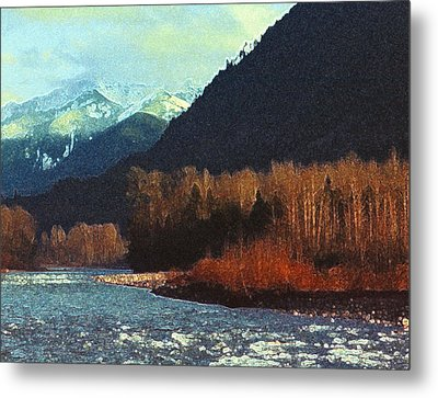 Metal Print featuring the photograph On The Squamish River 2223 by Lyle Crump