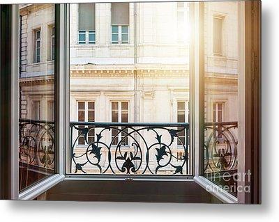 Open Window In Toulouse Metal Print