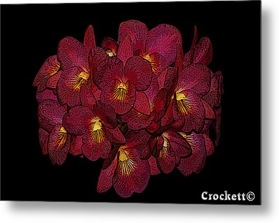 Metal Print featuring the photograph Orchid Floral Arrangement by Gary Crockett