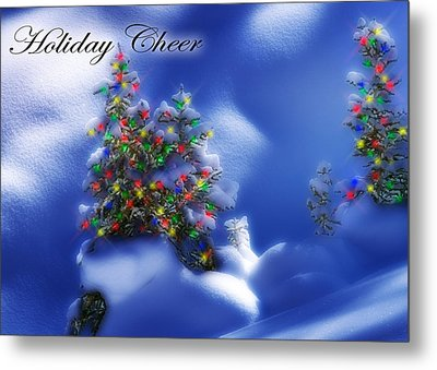 Outdoor Christmas Trees Metal Print by Utah Images