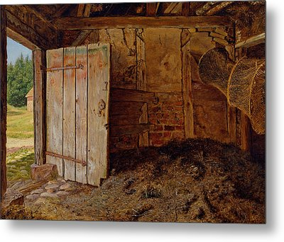 Outhouse Interior Metal Print by Christen Dalsgaard