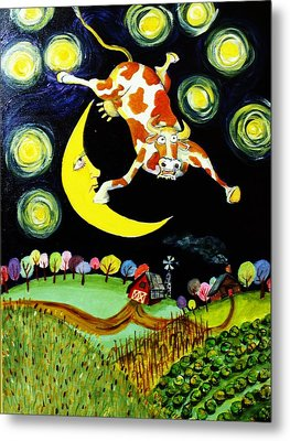 Over The Moon Metal Print by Tex Norman