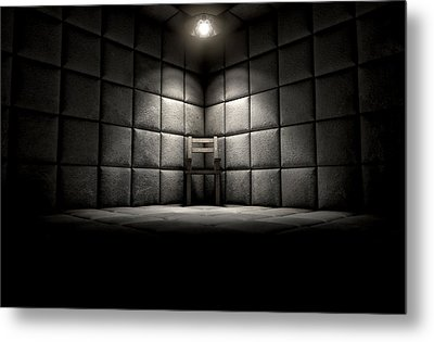 Padded Cell And Empty Chair Metal Print by Allan Swart