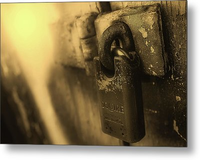 Padlock Metal Print by James Sutton