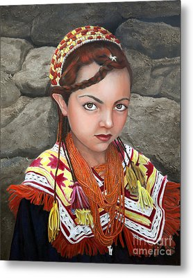 Pakistani Girl Metal Print by Enzie Shahmiri