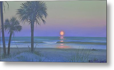 Palmetto Moon Metal Print