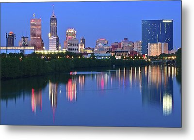 Panoramic Indianapolis Metal Print by Frozen in Time Fine Art Photography
