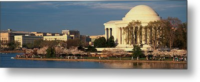 Panoramic View Of Jefferson Memorial Metal Print by Panoramic Images