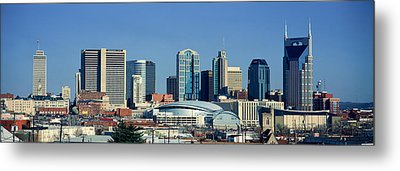 Panoramic View Of Nashville, Tennessee Metal Print by Panoramic Images