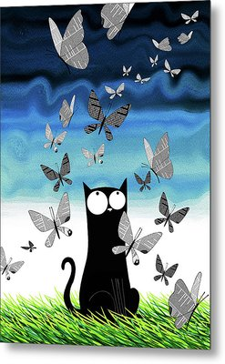 Paper Butterflies  Metal Print by Andrew Hitchen