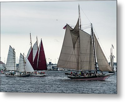 Parade Of Sail Metal Print