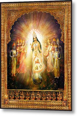 Parashakti Devi - The Great Goddess In Space Metal Print by Ananda Vdovic