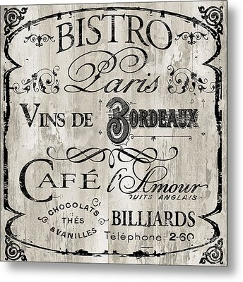 Paris Bistro    Metal Print by Mindy Sommers