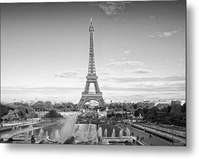 Paris Eiffel Tower Monochrome Metal Print by Melanie Viola