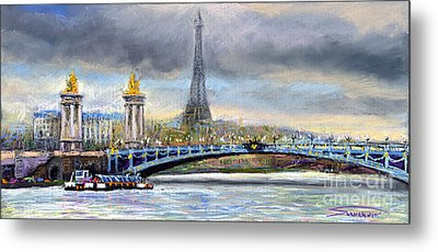 Paris Pont Alexandre IIi Metal Print by Yuriy  Shevchuk