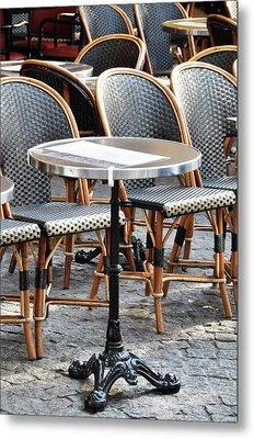 Parisian Cafe Terrace Metal Print
