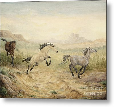 Metal Print featuring the painting Passing Through by Cathy Cleveland