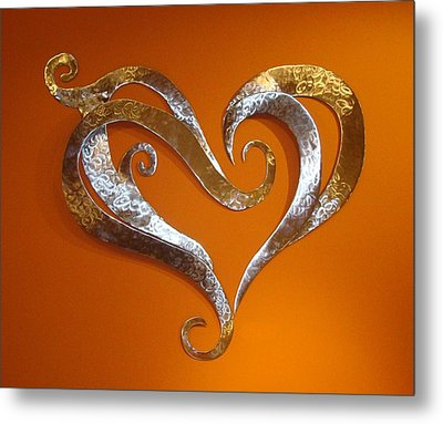 Passion Hearts Metal Print by Diane Snider