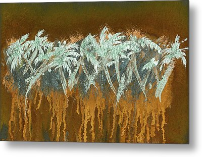 Patina Palms Metal Print by Larry Mora