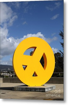 Peace From The Oakland Museum . Oakland California . 7d13411 Metal Print by Wingsdomain Art and Photography