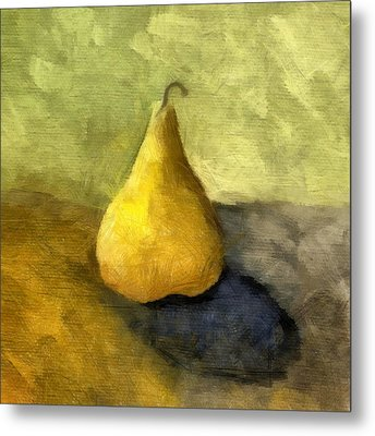 Pear Still Life Metal Print by Michelle Calkins
