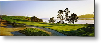 Pebble Beach Golf Course, Pebble Beach Metal Print by Panoramic Images