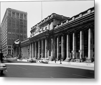 Pennsylvania Station, Exterior, New Metal Print by Everett