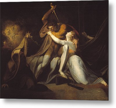 Percival Delivering Belisane From The Enchantment Of Urma Metal Print by MotionAge Designs