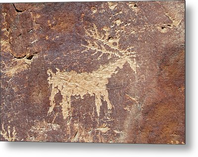 Petroglyph - Fremont Indian Metal Print by Breck Bartholomew