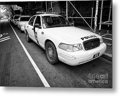 Philadelphia Police Ford Crown Vic Cruiser Patrol Car Vehicle Usa Metal Print