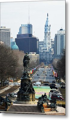 Philadelphia - The Parkway Metal Print by Cindy Manero