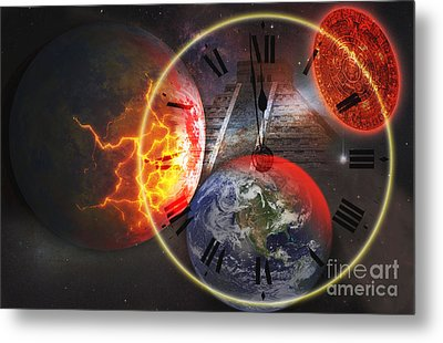 Photo Illustration Of The End Metal Print by George Mattei