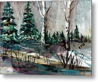 Pine Forest Metal Print by Mindy Newman