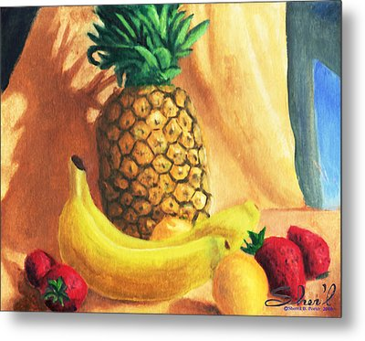 Metal Print featuring the painting Pineapple Delight by Sherl