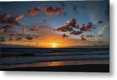Pink Cloud Sunrise Delray Beach Florida Metal Print
