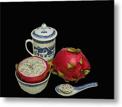 Metal Print featuring the photograph Pink Dragon Fruit  by David French