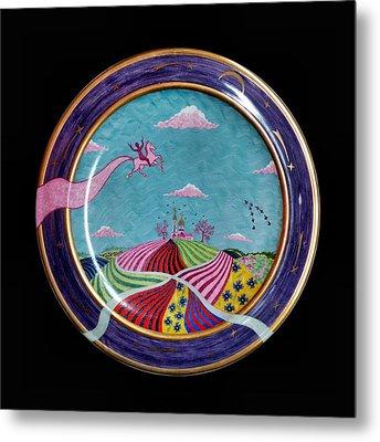 Pink Horse. Metal Print by Vladimir Shipelyov