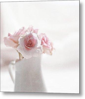 Pink Roses Metal Print by Jill Ferry