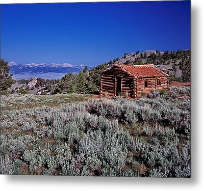 Pioneer Cabin Metal Print by Leland D Howard