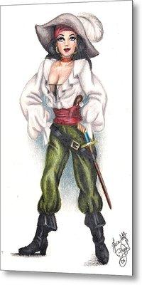 Pirate Girl Metal Print by Scarlett Royal