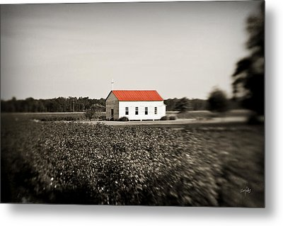 Plantation Church Metal Print by Scott Pellegrin
