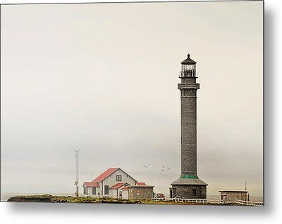 Point Arena Lighthouse Ca Metal Print