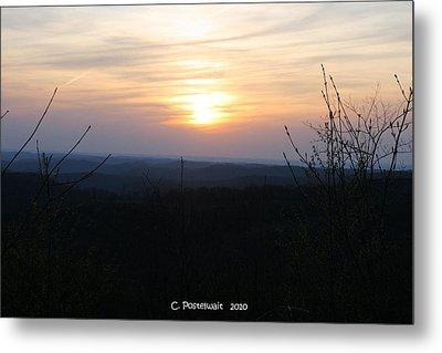 Point Mountain Sunset Metal Print