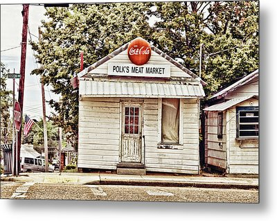 Polk's Meat Market Metal Print by Scott Pellegrin