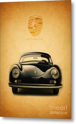 Porsche 356 Metal Print by Mohamed Elkhamisy