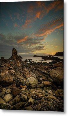 Porth Saint Beach At Dusk. Metal Print by Andy Astbury