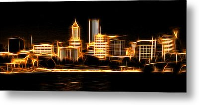Metal Print featuring the photograph Portland Oregon Skyline  by Aaron Berg