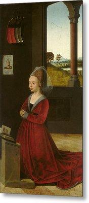Portrait Of A Female Donor Metal Print by Petrus Christus